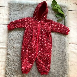 Baby Gap Red Floral Snow Suit 18-24 Months